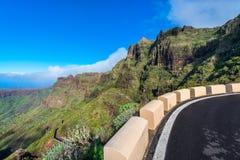 Camino de la montaña en Tenerife del noroeste Foto de archivo libre de regalías