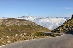 Camino de la mucha altitud Fotografía de archivo libre de regalías