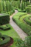 Camino de la naturaleza a través en el jardín Fotos de archivo libres de regalías