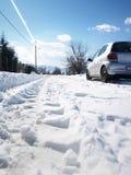 Camino de la nieve Imagen de archivo