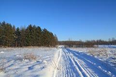 Camino de la nieve foto de archivo