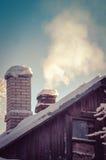 Camino de la nieve del claro de la quitanieves Fotos de archivo