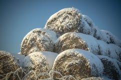Camino de la nieve del claro de la quitanieves Fotografía de archivo