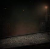 Camino de la noche stock de ilustración