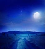 Camino de la noche Imágenes de archivo libres de regalías