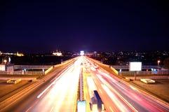 Camino de la noche Fotografía de archivo libre de regalías