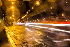 Camino de la noche Imagenes de archivo