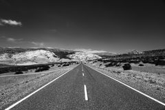 Camino de la Patagonia Foto de archivo libre de regalías