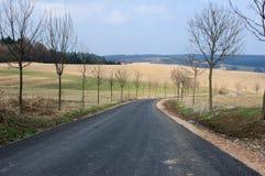 Camino de la pista de despeque Foto de archivo libre de regalías