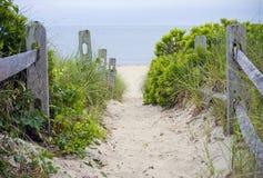Camino de la playa de Cape Cod fotografía de archivo libre de regalías