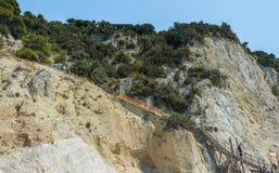 Camino de la playa de Egremni Fotografía de archivo