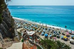 Camino de la playa de Egremni Foto de archivo libre de regalías