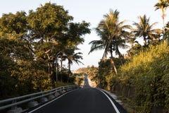 Camino de la playa durante salida del sol en Taitung, Taiwán imagen de archivo libre de regalías