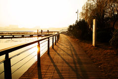 Camino de la puesta del sol Imagen de archivo