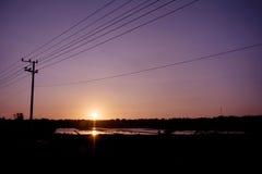 Camino de la puesta del sol Imágenes de archivo libres de regalías