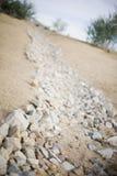 Trayectoria de la roca imagenes de archivo
