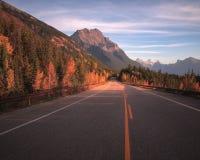 Camino de la ruta verde de Icefields Imagenes de archivo