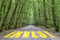 Camino de la selva a invertir imagen de archivo libre de regalías
