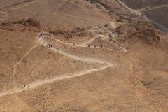 Camino de la serpiente de Masada imagenes de archivo