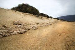 Camino de la suciedad (arena) Imagen de archivo libre de regalías