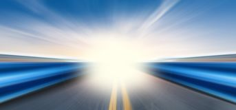 Camino de la velocidad imagen de archivo