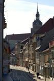 Camino de las compras en Brandeburgo un der Havel (Brandeburgo, Alemania) foto de archivo