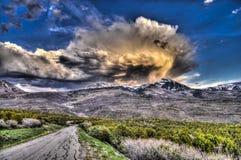Camino de lazo escénico, montañas de la sal del La, Imagen de archivo libre de regalías