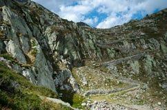 Camino de los militares de la montaña Imagenes de archivo