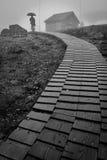Camino de madera Fotografía de archivo