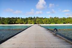 Camino de madera al paraíso Fotos de archivo