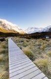 Camino de madera proporcionado para los caminantes Fotografía de archivo