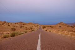 Camino de Marruecos Foto de archivo libre de regalías