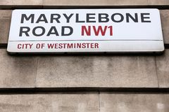Camino de Marylebone, Londres Fotos de archivo libres de regalías
