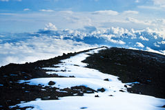 Camino de Mauna Kea Foto de archivo libre de regalías