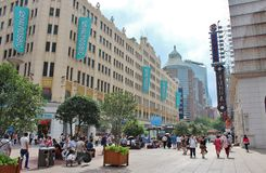 Camino de Nanjing, Shangai Imagen de archivo libre de regalías