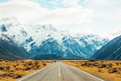 Camino de Nueva Zelanda Fotos de archivo libres de regalías