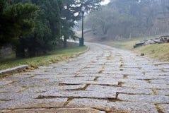 Camino de piedra al aire libre Imagen de archivo libre de regalías