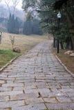 Camino de piedra al aire libre Fotografía de archivo libre de regalías