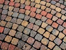Camino de piedra del adoquín Imagen de archivo libre de regalías