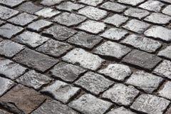Camino de piedra del adoquín Foto de archivo libre de regalías