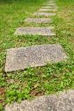 Camino de piedra del jardín Imágenes de archivo libres de regalías