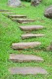 Camino de piedra del jardín Imagenes de archivo