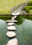 Camino de piedra del zen Fotografía de archivo