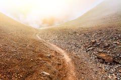 Camino de piedra y de tierra Fotografía de archivo