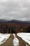 Camino de saca de Lincoln, Vermont Foto de archivo