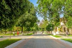 Camino 02 de Samarkand Tashkent imagen de archivo