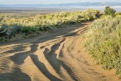 Camino de Sandy en las colinas del norte de la arena Fotografía de archivo