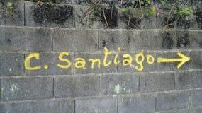Sinal de Camino de Santiago fotos de stock royalty free