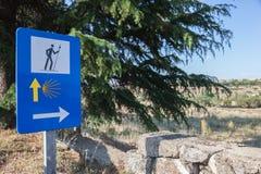 Camino de Santiago en España Foto de archivo