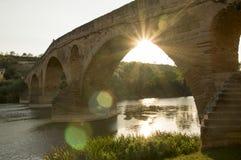Camino de Santiago from Pamplona to Puente la Reina Royalty Free Stock Photography